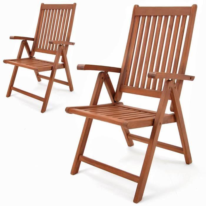 Set De 2 Chaises Pliantes Vanamo En Bois Deucalyp