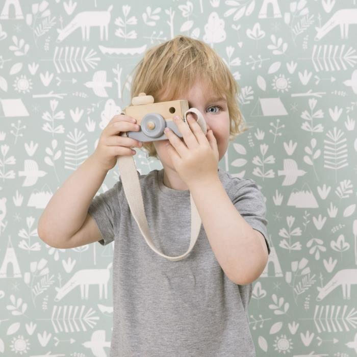 Little Dutch   Papier Peint Intissé L'Enfant   Adventure menthe