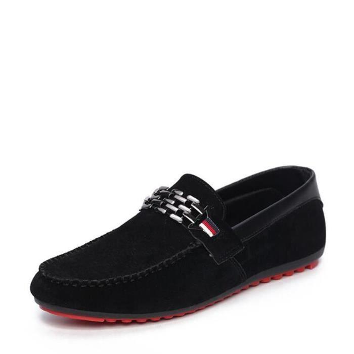 moccasins homme en cui Antidérapant Loafer Haut qualité ete 2017 nouvelle chaussure Confortable Haut qualité Grande eu9ru62