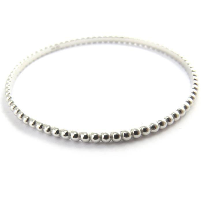 Les Trésors De Lily [M7305] - Bracelet argent Billes - 64 mm 3 mm