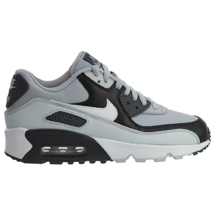 Nike Big Kids Air Max 90 Leather Running Shoes H4EVR
