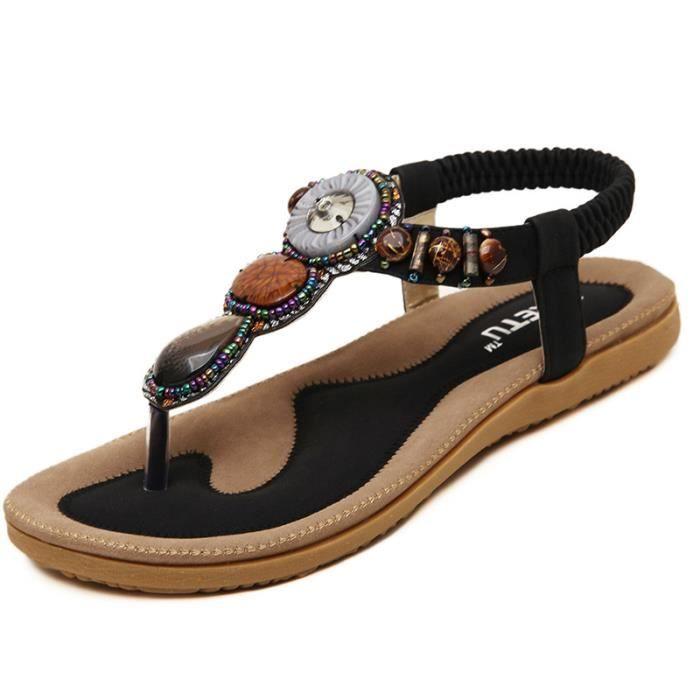 Sandales Chaussures Femme Noir