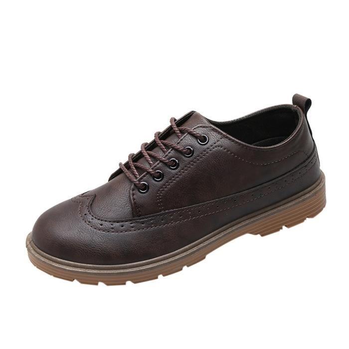 Richelieu En D'affaires Mode Cuir Classique Robe Hommes Patchwork Pour Chaussures 6916 6495@chaussures dpTwqd
