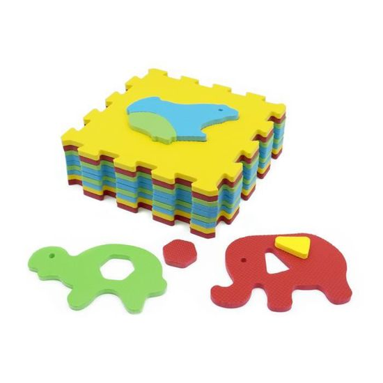 Ludi Tapis Mousse Basic Animaux Animaux Carre Achat Vente