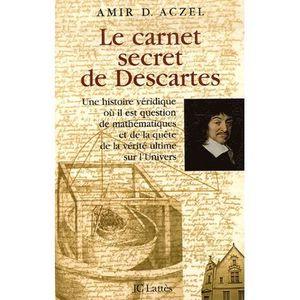 LIVRE HISTOIRE SCIENCES Le carnet secret de Descartes