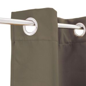 RIDEAU Rideau occultant Strong - 140 x 250 cm - Taupe