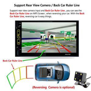 AUTORADIO 7'' 2-DIN autoradio d' ecran tactile  GPS avec cam