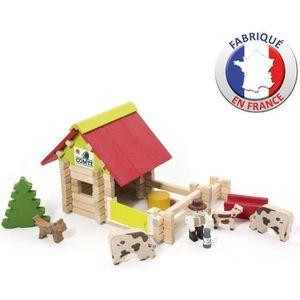 ASSEMBLAGE CONSTRUCTION JEUJURA - Petite Ferme en bois Avec Animaux - 70 P