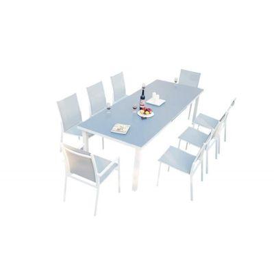 Ensemble table de jardin extensible 256/320 + 6 chaises et 2 ...