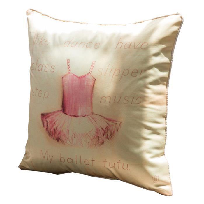 canap lit maison dcor polyestercoton la jupe de fille 4545cm doreiller