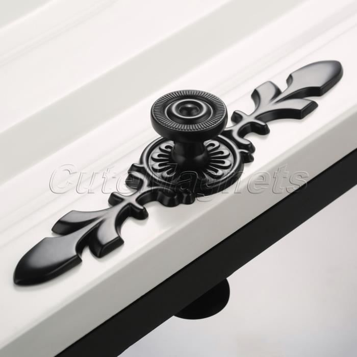 c0e2eed3b61d63 Poignée de Tirage 170mm Longueur Noir En Alliage de Zinc Bouton de Porte  Coulissante 8106 Armoires à Tiroirs Poignée de Tirage