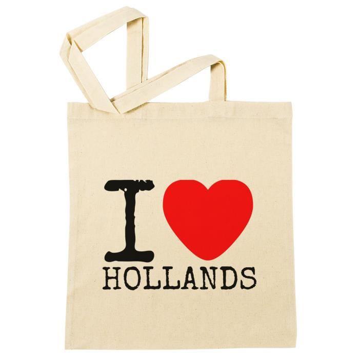 I Love Réutilisable B Hollands Plage À Beach Shopping Provisions Bag 47908 Reusable Sac Coton 0qfEtn