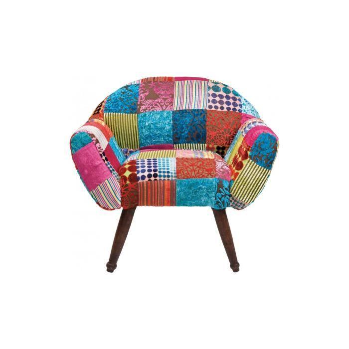 Fauteuil Patchwork Velvet Colore Kare Design Achat Vente - Fauteuil patchwork design