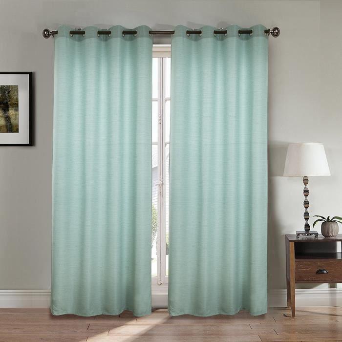rideaux vert d eau achat vente pas cher. Black Bedroom Furniture Sets. Home Design Ideas