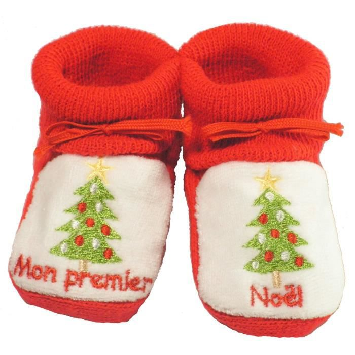 chausson noel bebe Chausson bebe noel   Achat / Vente pas cher chausson noel bebe