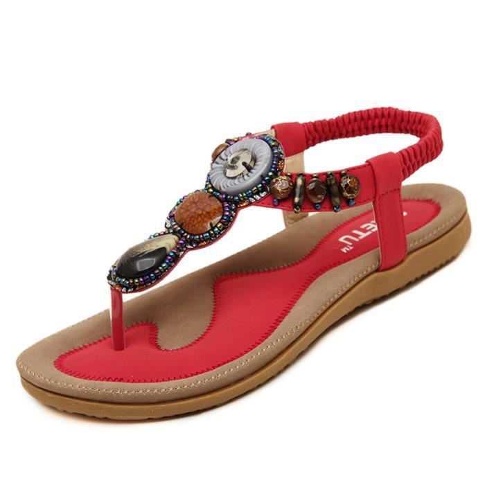 Sandales Chaussures Femme Rouge gFaYP12Q