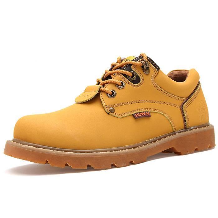 JOZSI Chaussures Homme Cuir Confortable mode Homme chaussure de ville BJYG-XZ209Jaune38