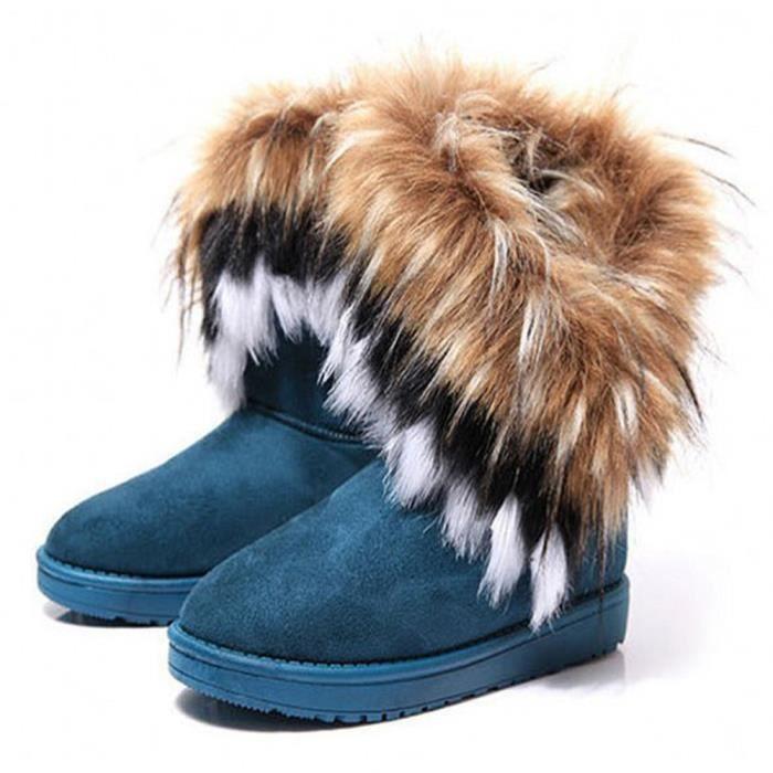CUSSELEN Bottes De Neige Garde Au résistantes à l'usure arrivee Confortable Chaussure Plus De Cachemire Couleur Adulte x5ZNiBLEM