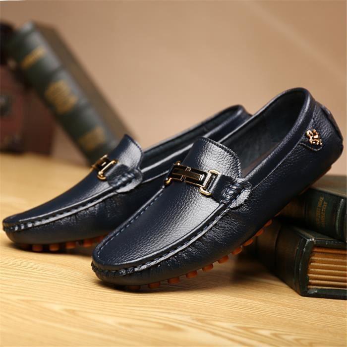 Confortable blanc Hommes Moccasins Couleur De Xmm Bleu Haut Nouveau Moccasin noir Chaussures Qualité Plus wqWxI7C