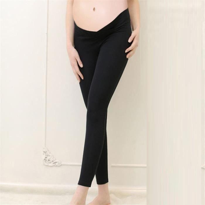 Mode femme Pantalons solide de grossesse de maternité Pantalon extensible  mince Leggings cpa10965 748d4a4d137
