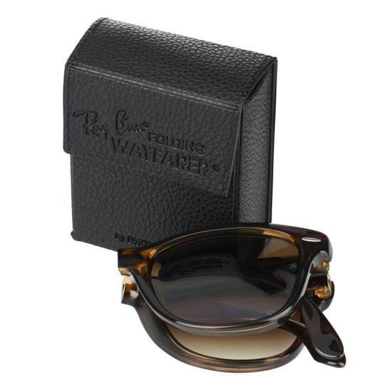 ff943c0fa5899 RAY BAN Lunettes de Soleil Folding Wayfarer RB4105 Marron Mixte Marron -  Achat   Vente lunettes de soleil Mixte - Cdiscount