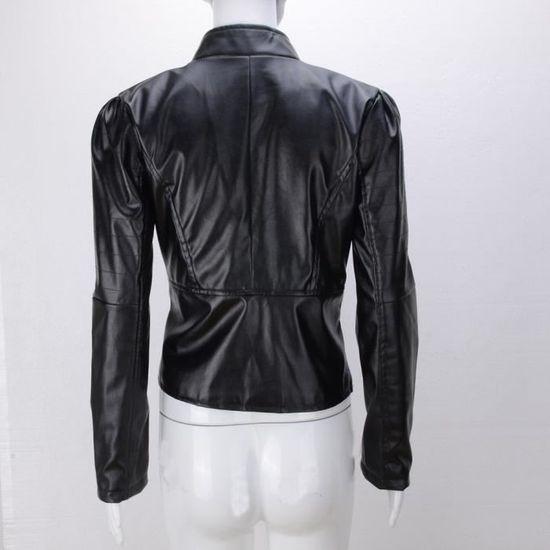 Pardessus Outwear Manteau Tops Parka Femmes Wy6969605365 De En Cuir Hiver Chaud Zipper Short TqCRRv