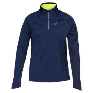 MAILLOT DE RUNNING ASICS Windblock maillot - Demi zip Homme - Bleu ma