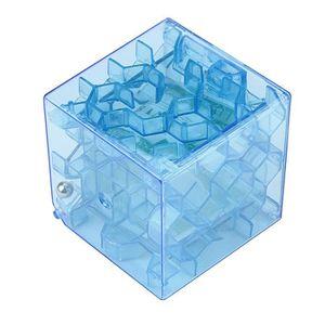 PUZZLE 3D Cube Puzzle argent labyrinthe caisse d'épargne