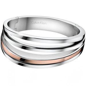 e3524bbe808 Bracelet jonc Calvin Klein Breath bicolore S - Achat   Vente ...