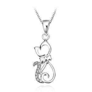 Acheter pendentif chat or