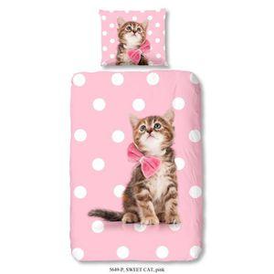 parure de lit 1 personne chat achat vente parure de lit 1 personne chat p. Black Bedroom Furniture Sets. Home Design Ideas