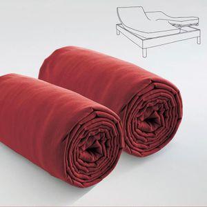 drap housse pour lit electrique achat vente drap housse pour lit electrique pas cher cdiscount. Black Bedroom Furniture Sets. Home Design Ideas