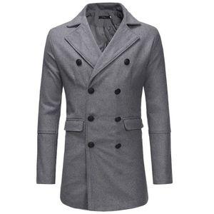 4e325338c9a MANTEAU - CABAN Hommes Automne Hiver chaud Veste Pardessus Outwear ...