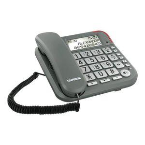Téléphone fixe TELEFUNKEN TF651 GRIS SOLO AVEC REPONDEUR
