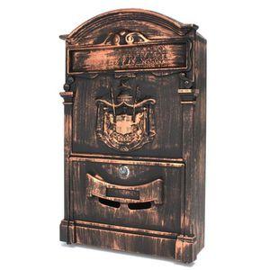 boite aux lettres fonte achat vente boite aux lettres fonte pas cher cdiscount. Black Bedroom Furniture Sets. Home Design Ideas
