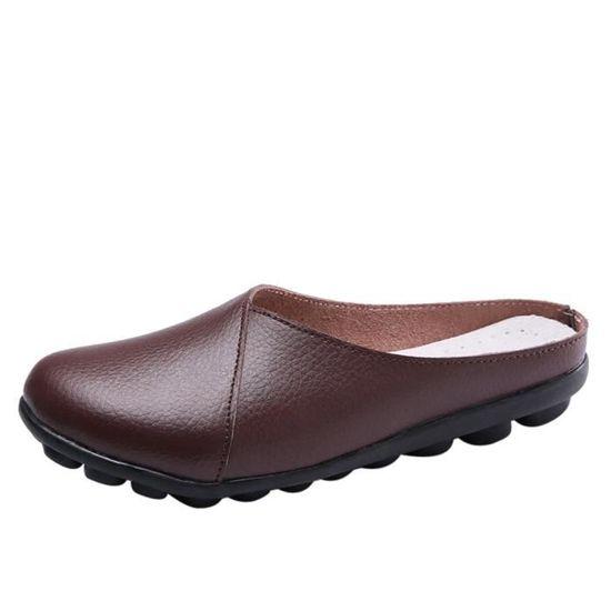 Zareste®Flats Pure Color Soft Bottom Chaussures pour femmes Chaussures Slip-On Casual bateau LJD80327892CO café  Café - Achat / Vente slip-on