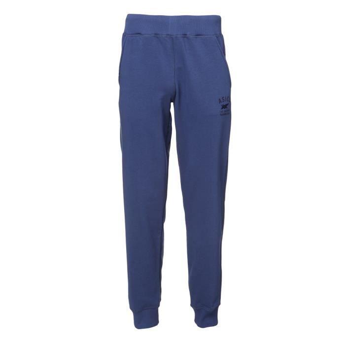 ASICS Pantalon de jogging - Homme - Bleu marine