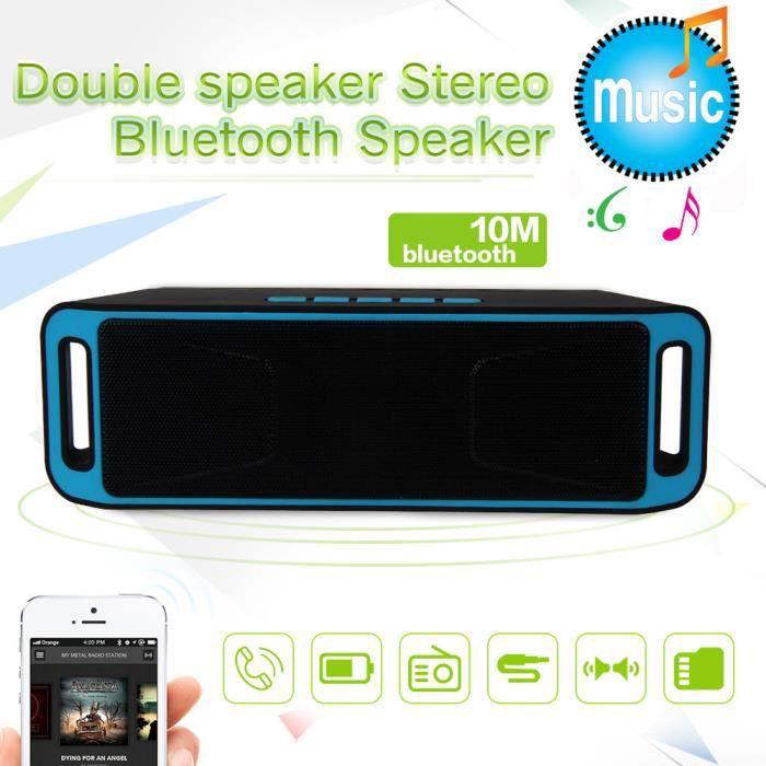 Mini Portable Sans Fil Bluetooth Récent Haut-parleur Stéréo Tf Usb Mic_r1382