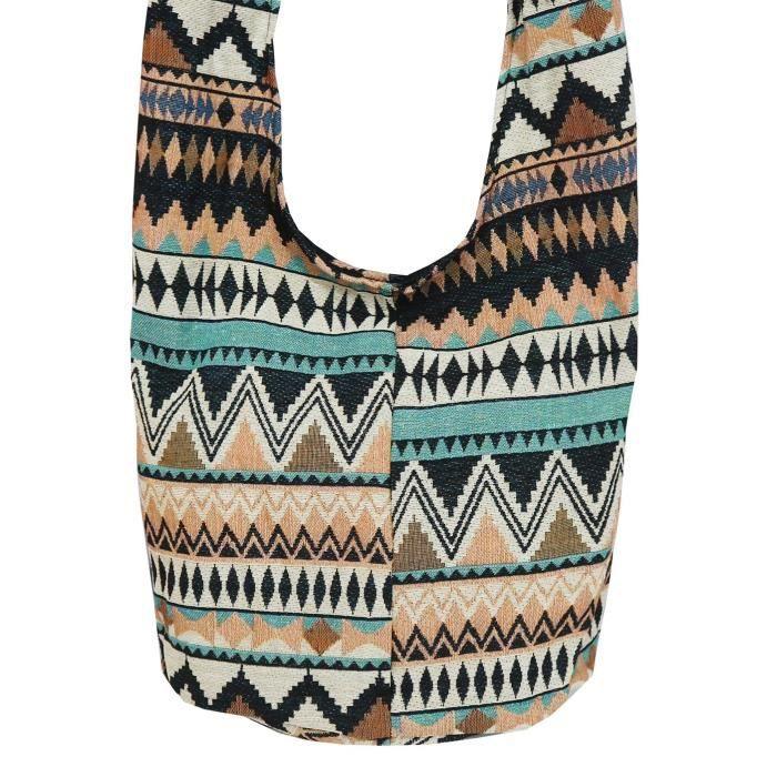 tribal hobo bohème hmong sling tissé coton épaule hippie gitan sac U64ND