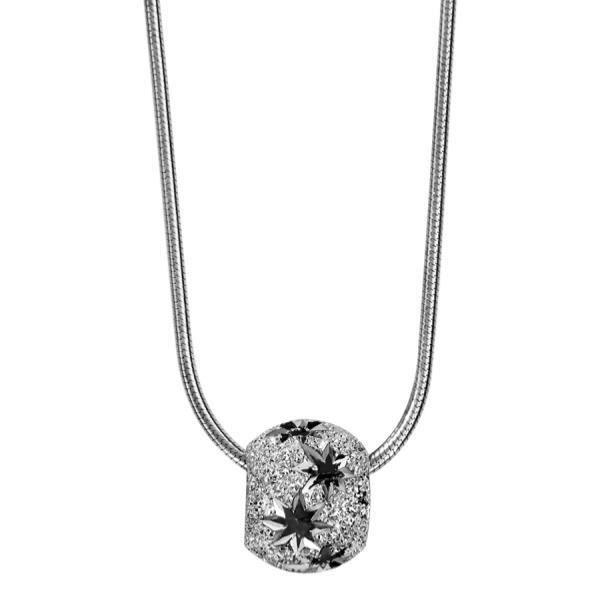 c64dcf7dbdd74 Collier Argent 925 Chaine Tube avec Boule Diamantée Etoiles - Achat ...