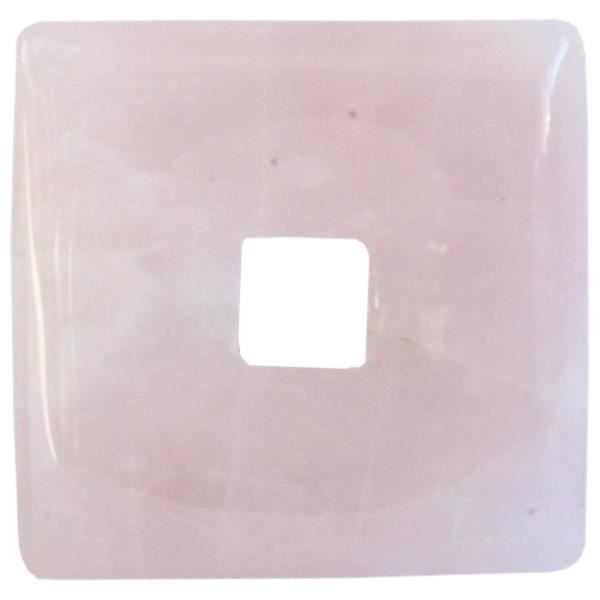 Pi chinois carré quartz rose 3 cm - lot de 6 unique Rose