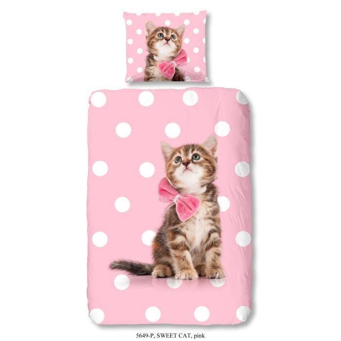 parure de lit 1 personne chat achat vente parure de lit 1 personne chat pas cher cdiscount. Black Bedroom Furniture Sets. Home Design Ideas