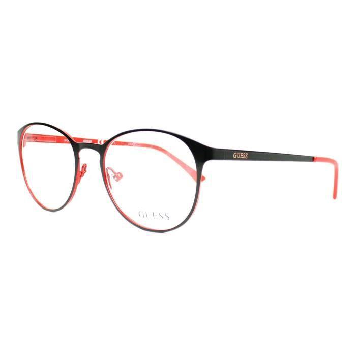 655af68d19b8af Lunettes de vue Guess GU3011-S -5 Noir mat - Rouge Noir mat - Rouge ...