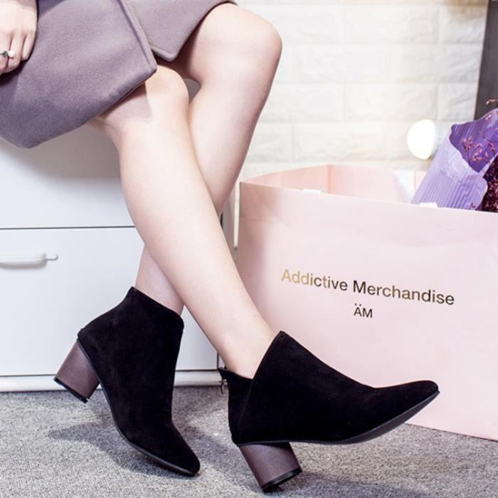 Kouan Bottines Chaussures Femme boots couleur à...
