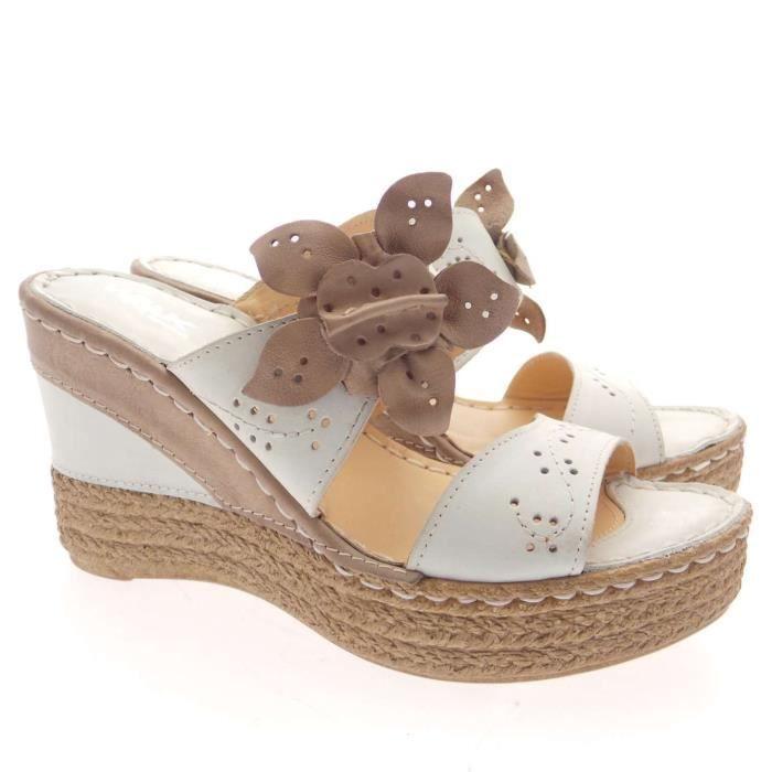 Melluso Sandal Femme Osso