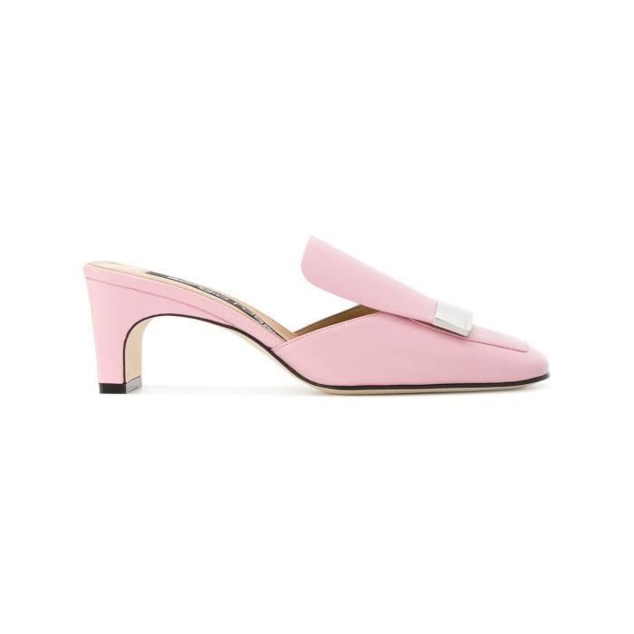 SERGIO ROSSI FEMME A78000MNAN075850 ROSE CUIR CHAUSSURES À TALONS