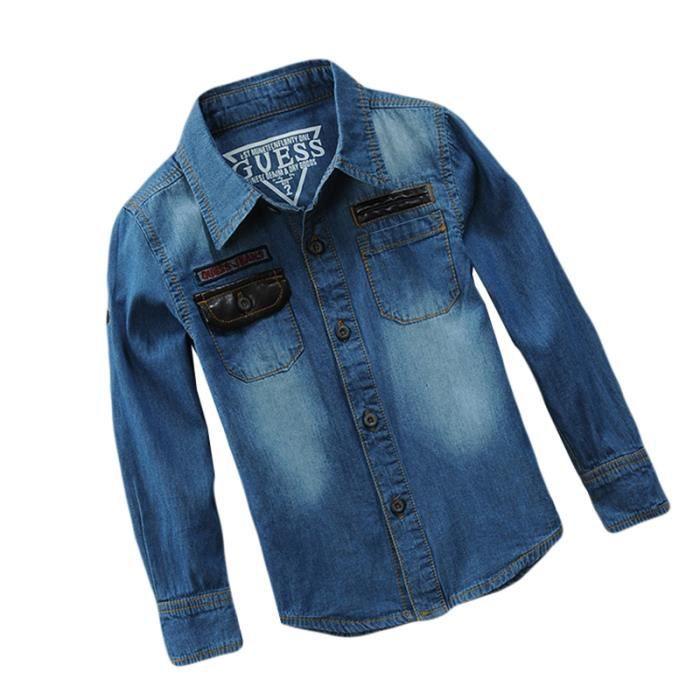 acheter en ligne 8fd19 11e34 Veste Jean Garçon Enfant Manches Longues Vêtements Mi Saison Enfant 4-14 ans