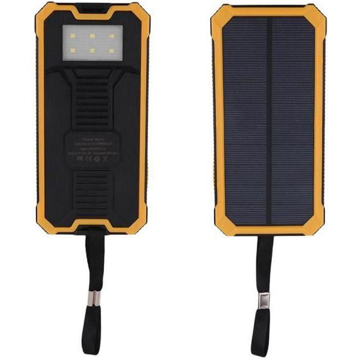 Double Externe Camping Lampe Usb Randonnée Jaune Avec Mah Led Batterie Solaire 100000 eWrxBCod