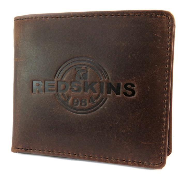Portefeuille italien cuir  Redskins  marron vintage - 10x9x1.5 cm ... 39e683cd469