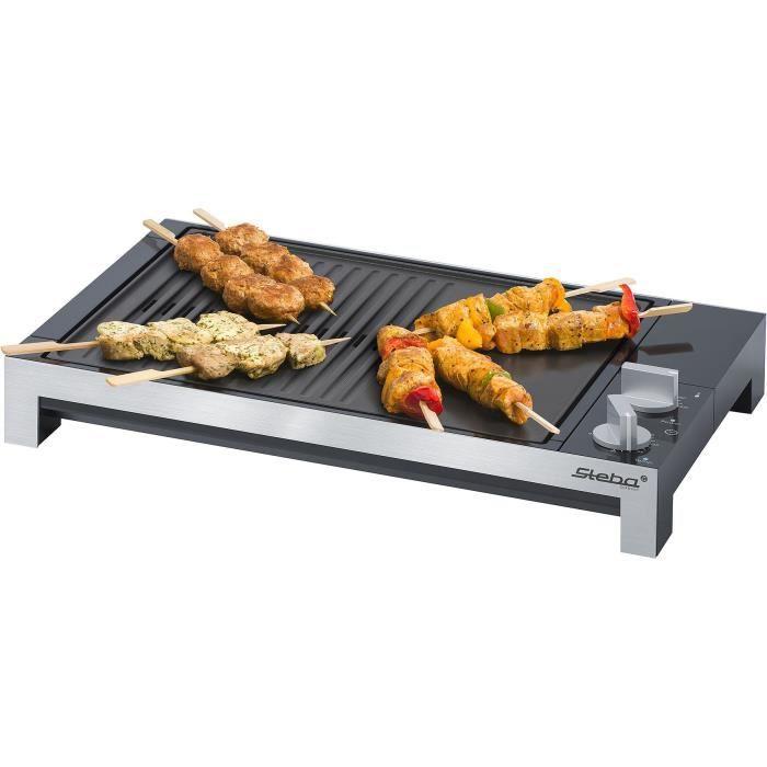 GRILL ÉLECTRIQUE STEBA 066100 TG1 Grill de table - 2200 W - Plaque